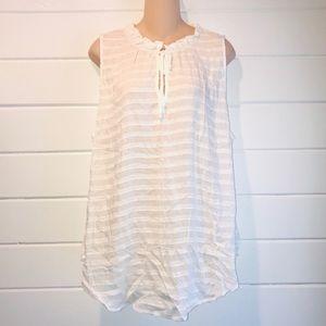 {Torrid} sleeveless white top